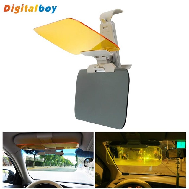 New Car Sun Visor HD Car Anti-Glare Dazzling Goggle Day Night Vision Driving  Mirror UV Fold Flip Down HD Clear View Visor 3c33f16af55