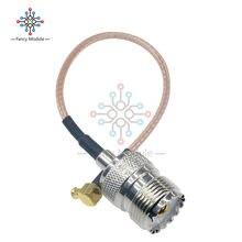 15 cm Kablo MCX Erkek Fiş Dik Açı SO239 UHF Dişi Jack RG316 6in Pigtail Konnektörü