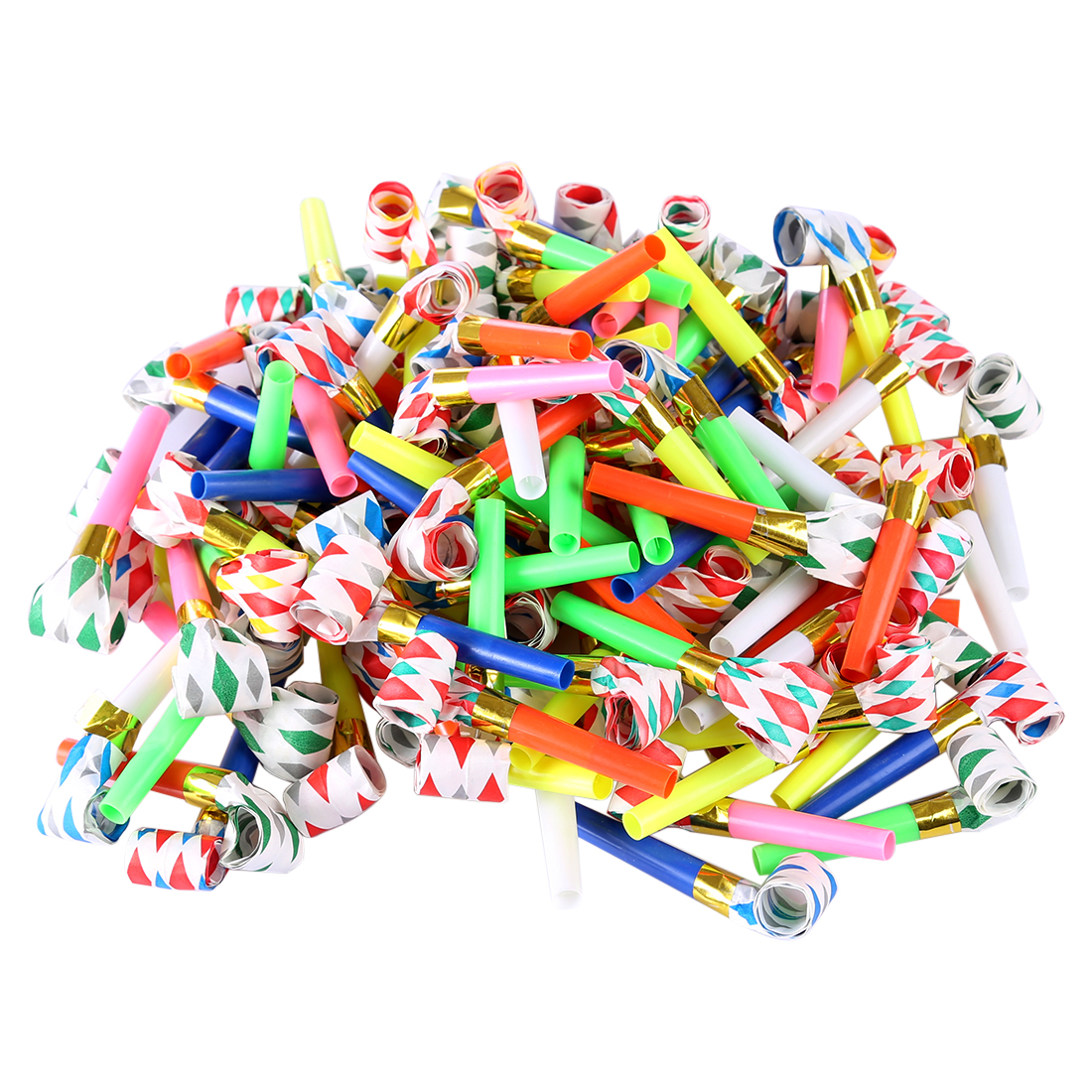 100pcs 6cm Long Music Blowouts Whistles Toys Noisemakers For Children Birthday Party Halloween Toys For Kids