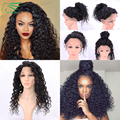 Brazilian Virgin Hair Curly wig Glueless Loose Deep Curly Full Lace Human Hair Wigs For Black Women The Best Lace Front Human Ha