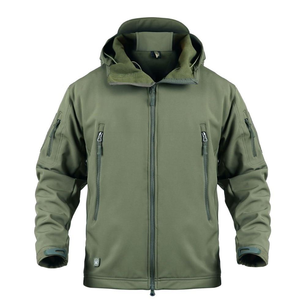 Мужские тактические куртки размера плюс XS 5XL, мягкая оболочка, водонепроницаемая, Акула, кожа, Боевая, одежда для охоты, кемпинга, альпинизма