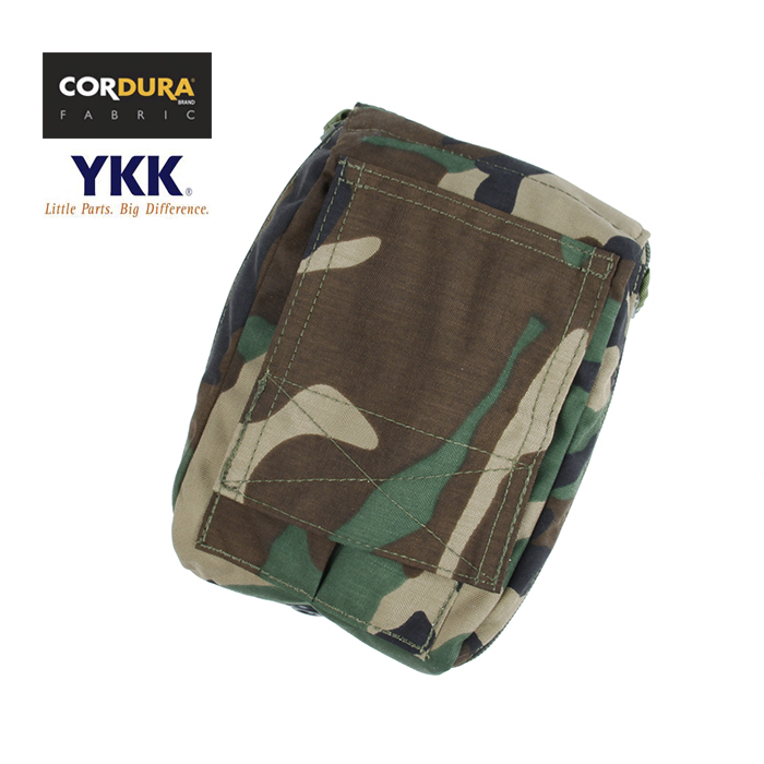 Cordura Woodland Folding 330 Tactical MOLLE Medical Pouch Waist Pack Free shipping XTC051024