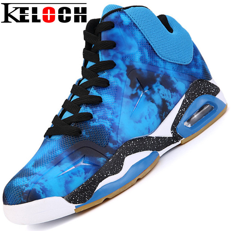 Keloch New Air Damping Men Basketball Shoes Midium Cut Basketball Sneakers Sport Shoes Zapatillas Basquetbol Basket Homme