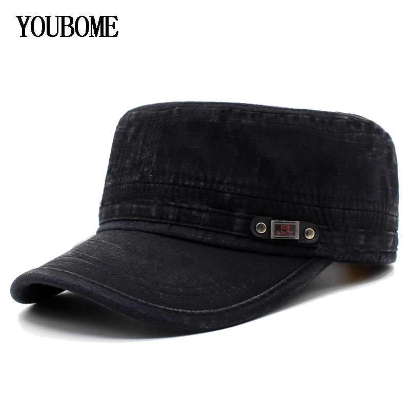 YOUBOME אופנה גברים בייסבול כובע נשים מותג Snapback כובעי רגיל בציר כובעים לגברים שטוח Casquette עצם בציר אבא זכר כובע