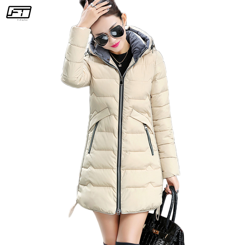 Fitaylor New Winter Jacket Women Quilted Coats Plus Size 6xl 7xl Hooded   Parkas   Mujer Long Ovetcoat Cotton Padded Female Coat