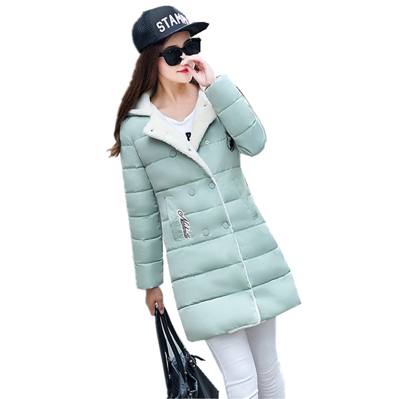 2016 Womens Winter Down Cotton Coat Jackets Women Long Thick Warm Fur Collar Hooded Parkas Female Wadded Jacket Plus Size W218 3xl 4xl 2016 winter jacket women parkas plus size hooded long coat parkas with real fur collar thickening female warm clothes
