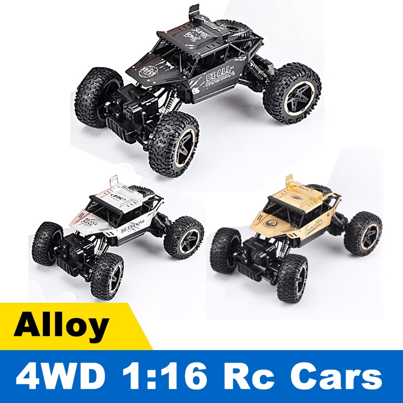 2018 2.4G High Speed Alloy Four-Wheel Drive CAR Electric RC Car 4CH Off-Road Vehicles Model Toy Truck RC Autos Control Remote