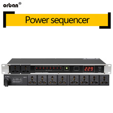 Professional stage 8/10 way power sequencer socket voltage display independent switch SR-320