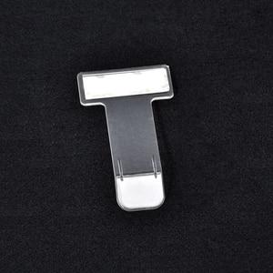 Image 5 - 1/2/4/5 個自動チケットフォルダ t 字型透明チケット車フォルダホルダードキュメント表示クリップ駐車電話番号表示