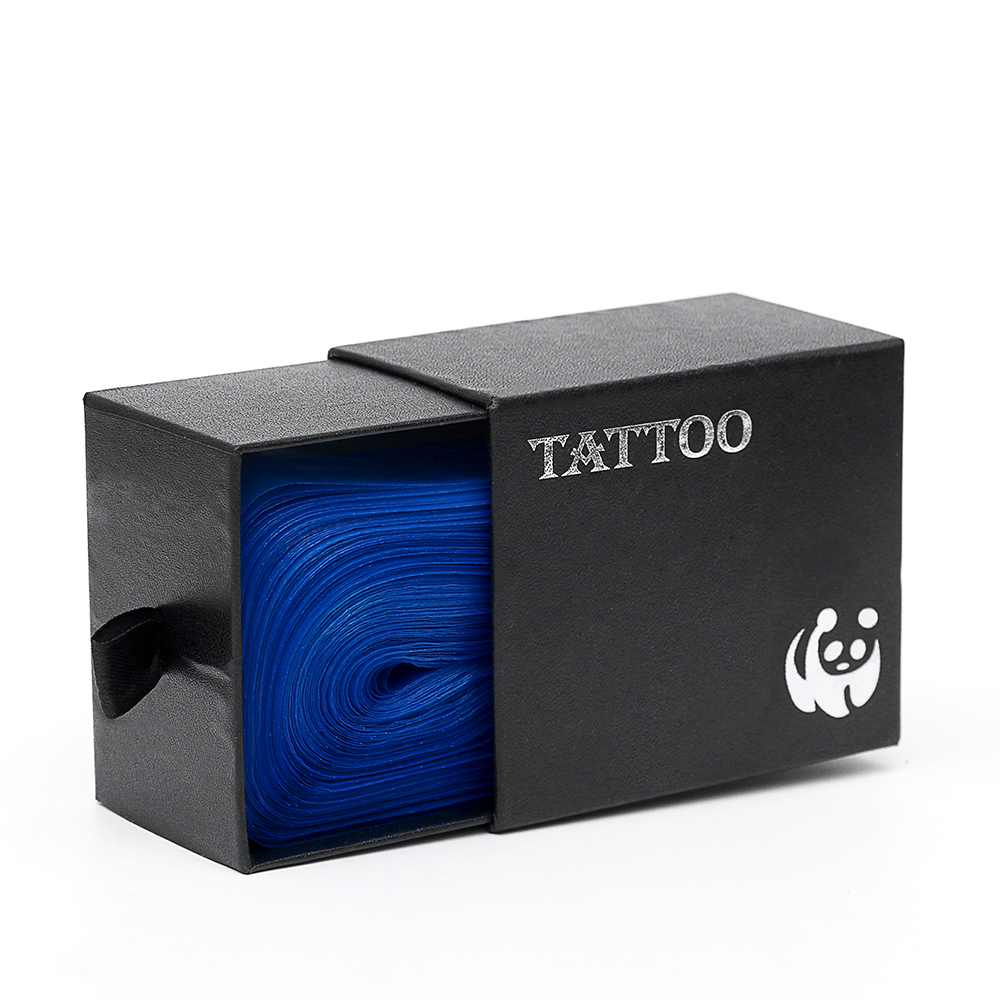 100pcs Tattoo Clip Cord Bag Cover Safety Disposable Hygiene Plastic Blue Tattoo Machine Clip Cord Sleeve Cover Bag