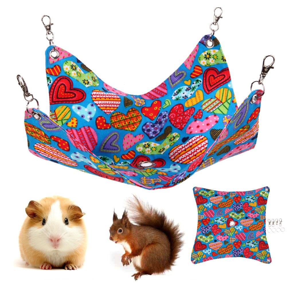 Shulishishop Amaca Gatto Gabbia per Criceti Cat Hammock Sacco a Pelo Scoiattolo Guinea Pig House Accessori per Gabbia per ratti Amaca per Animali Domestici Blue,S