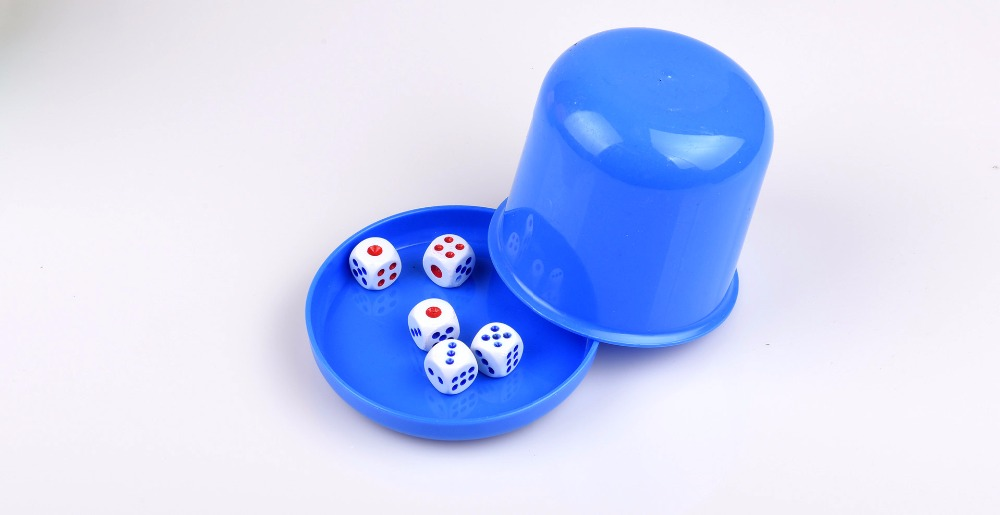 5pcs Polyhedral Dice Cup Drinking Board Game Gambling Dice Box With Table Games