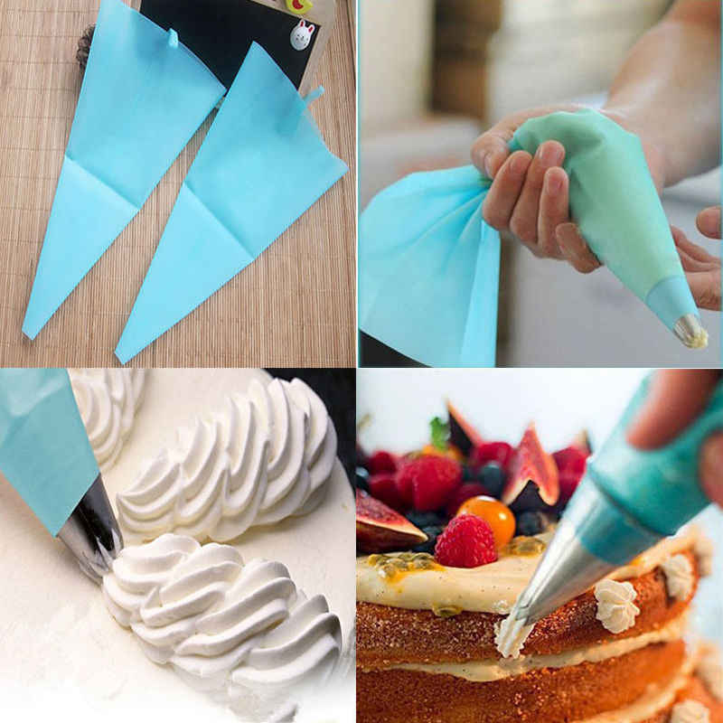Eco-friendly Silicone Icing Piping Cream Pastry Bag Nozzle Set Cake Decorating Baking Tools