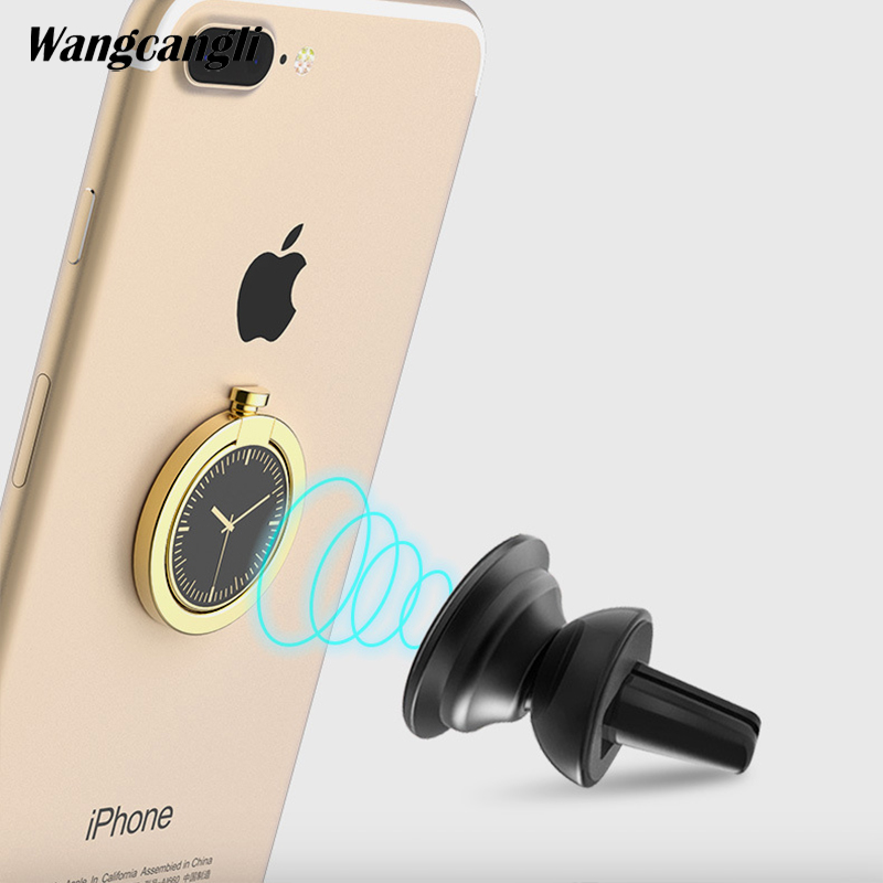 Clock finger ring stand for xiaomi Universal ring holder 360 degree rotation round phone tablet desktop stand car holder