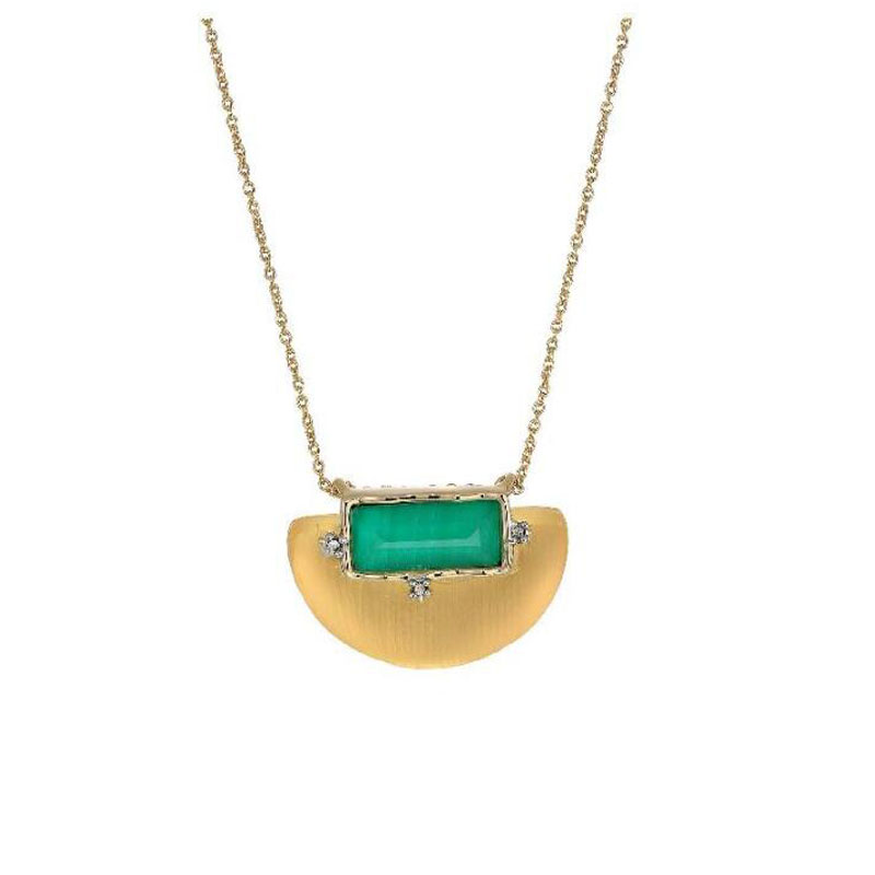 CSxjd Fashionable Natural Stone Necklace Exaggerated Personality Necklace Jewelry