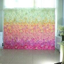 40X60cm Pink Artificial Silk Rose Flower Wall Decoration Hydrangea Peony Party Wedding Backdrop Road Lead 6pcs