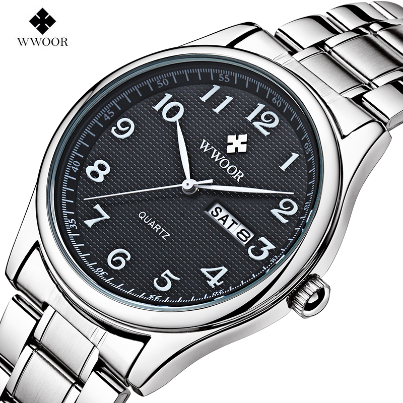 Top Brand WWOOR 8805 Watches Men Fashion Casual Top Brand Luxury Business Full Steel Waterproof Quartz Wrist Watch Male Clock fashion men watch wwoor brand casual watches men top brand waterproof luxury steel men wristwatches quartz watch reloj hombre