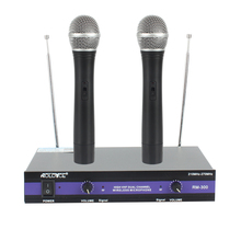 hot deal buy vhf wireless microphones 2 channel handheld mic system