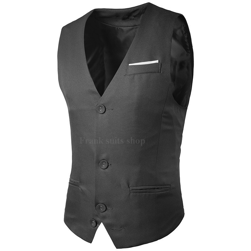Anzüge & Blazer Herrenbekleidung & Zubehör ZuverläSsig Günstige England Stil Herren Anzug Weste 2018 Männliche Weste Slim Fit Weste Business 3 Farben