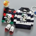 2017 nova primavera meninos camisas do bebê camisas de algodão sweatershirts 0-3years