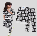 Children's Shampooers jogging tracksuits Rose cotton suit baby boys girls long sleeve t-shirt+pants kids Camellia clothing Suit