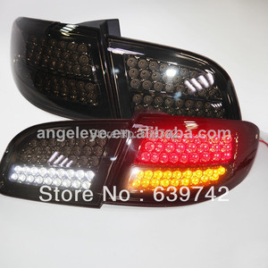 For Super Lux Santa Fe LED Rear Lamp 2006-2012 year all Smoke Black Color
