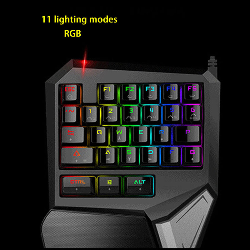 For T9 Plus Mechanical Programmable Ergonomic Design Wired USB Hand 11 Style Adjustable RGB LED Backlight Gaming Keyboard dare u wcg armor soldier 6400dpi 7 programmable buttons metab usb wired mechanical gaming mouse