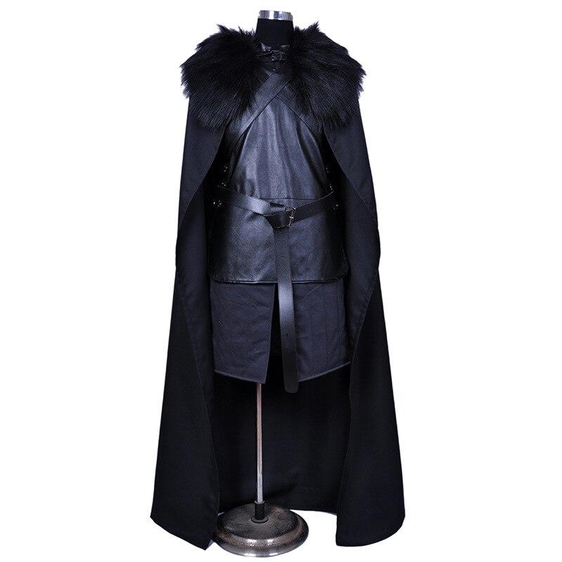 เกมบัลเล่ต์ Jon Snow Cosplay เครื่องแต่งกายแฟนซีผู้ชายขนสัตว์เสื้อคลุมเสื้อแจ็คเก็ตชุด Robe บ้านตกแต่งอุปกรณ์เสริม-ใน อุปกรณ์ตกแต่ง DIY งานปาร์ตี้ จาก บ้านและสวน บน   1