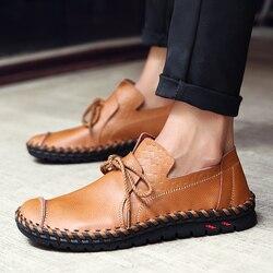 2018 diseñador de zapatos de hombre zapatos de cuero hechos a mano de los hombres de Lofers zapatos hombres zapatos casuales zapatos de los hombres adultos calzado 36 -47