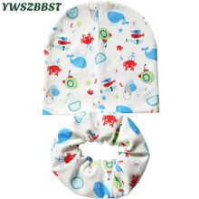 New Cotton Baby Hat Autumn Winter Baby Cap Scarf Set Toddler Baby Caps for Boys Child Hat for Girls Hat Kids Beanie Accessories