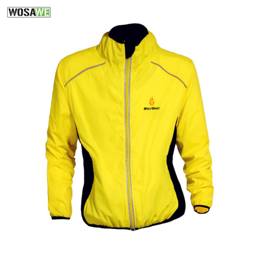 WOSAWE Autumn and Winter Bicycle Clothing Windproof Warm Windbreaker Long Sleeve Jacket Outdoor Sports Riding Cycling Jacket New