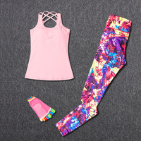 Women Sport Wear Sport Suit Fitness Yoga Sets Workout Gym Clothing Running Leggings Yoga Socks+Pants Lose Weight Sportswear