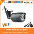 2.0mp 1080 p bala ip câmera de vigilância sem fio wi-fi webcam motion detectar ao ar livre à prova d' água de plástico preto freeshipping hot