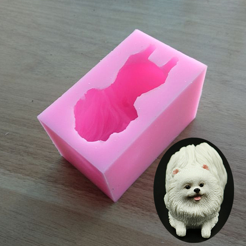3D Lovely Puppy Chocolate Mold Cake Decorating Liquid Silicone Molds DIY Fondant Soap Mold Baking Tools SQ1801