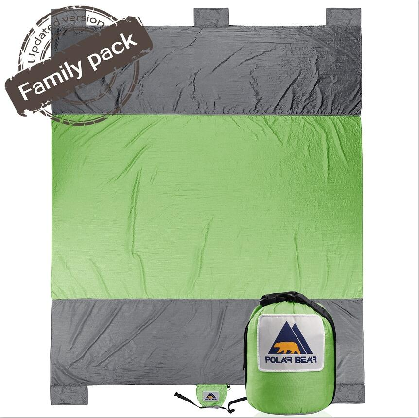 Outdoor Camping Sand Free Beach Mat Nylon Beach Blanket Picnic Sand Anchors Blanket Portable Picnic Mat Camping Climb Sports Mat sandy beach round mat
