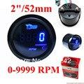 52mm Tacômetro Indicador RPM Difital Azul LEVOU DC12V/calibre auto
