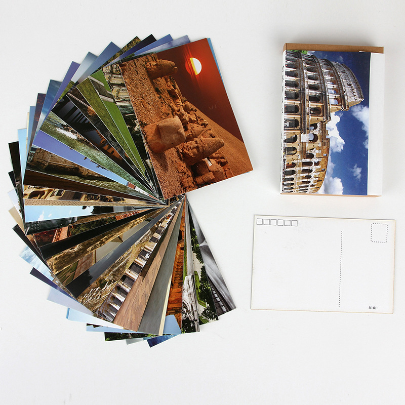 30 Sheets/Set Travel All Over The World Postcard/Greeting Card/Message Card/Birthday Letter Envelope Gift Card Two Sizes
