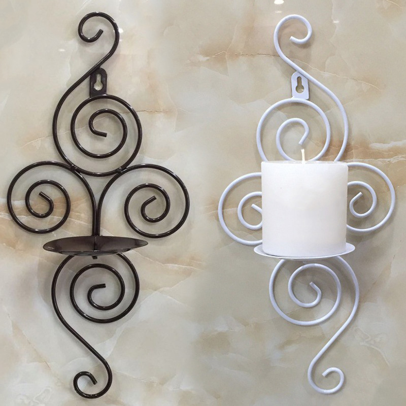 wall candle holder home wall candlestick iron candle stand hanging wall sconce candlestick wall mounted candle