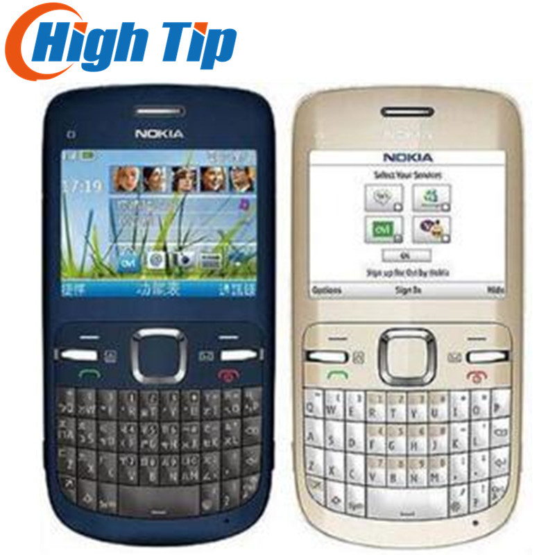 Brand nokia C3 Original unlocked nokia C3/C3-00 <font><b>cell</b></font> <font><b>phone</b></font> WIFI bar one year warranty Refurbished