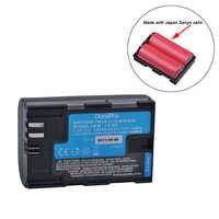 Batterie rechargeable haute qualité 7.2 V LP-E6 LP-E6N LP E6 Li-ion fabriquée avec des cellules japonaises pour Canon EOS 5D Mark II III 7D 60D 6D