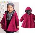 0-18Months/Otoño Invierno Chaquetas Infantiles Para Niñas Niños Encapuchados Abrigos Outerwears Casuales Rojo Rosa Caliente Gruesa Ropa de Recién Nacido BC1245