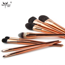 Anmor High End Synthetic Makeup Brushes Set 8 PCS Rose Gold Cosmetic Brushes Make Up Kit TH001