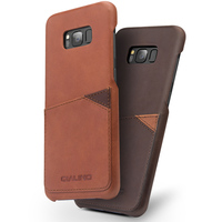QIALINO Case For Samsung Galaxy S8 S8 Plus Fashion Retro Genuine Leather Luxury Back Cover With