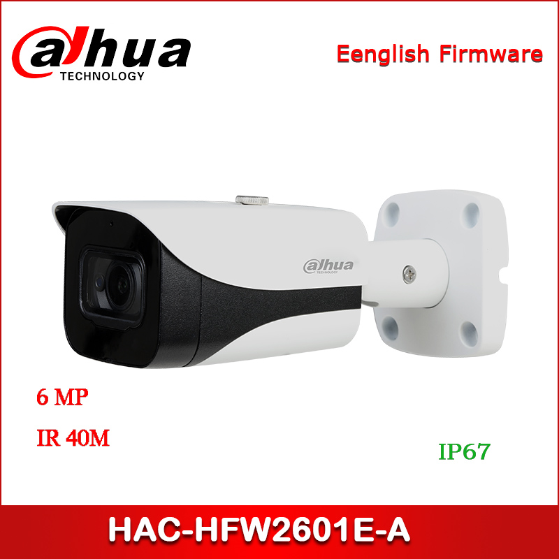 Dahua HAC-HFW2601E-A 6MP WDR HDCVI IR Bullet Camera CCTV Camera Audio in interface, built-in mic