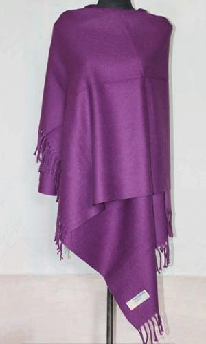 Winter Purple Chinese Women Artificial Cashmere Shawl Scarf Thick Warm Pashmina Mujere Bufanda Cape 172 x 68 cm WS013