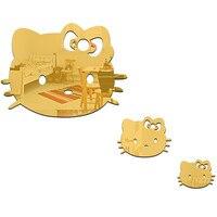 3 Adet/takım Hello Kitty Ayna Duvar Çıkartmaları Çıkarılabilir Çocuk Odası Duvar Sticker Ev Dekor E