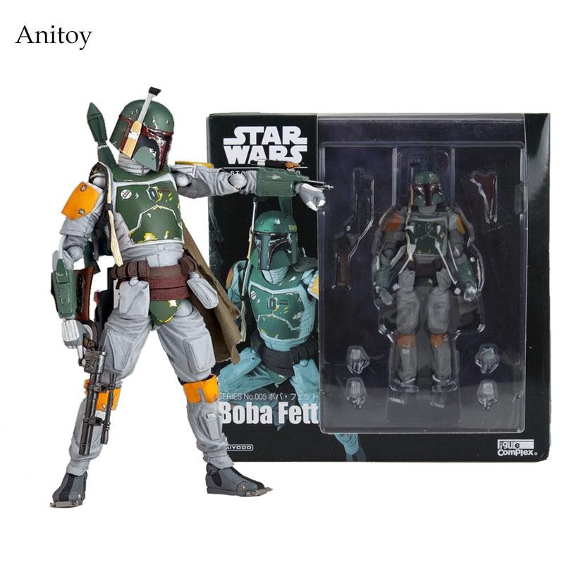 Star Wars REVO 005 Boba Fett PVC Action Figure Collectible Model Toy 16cm KT1283 цена