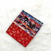 Ручная работа ткань японский стиль и ветер карман полотенце хлопок Атлас бронзовая Бабочка волны вишня цветок платок