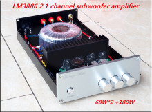 HiFi LM3886 2.1 channel 68W *2 + 180W*1 Subwoofer Power Amplifier