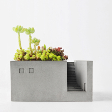 Fine multifunctional concrete material Flower Pots Creative pen holder desktop concrete storage Plant Planters  pot